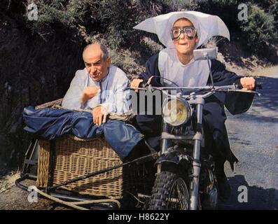 Louis, der Schürzenjäger, (LE GENDARME SE MARIE) F 1968, Regie: Jean Girault, LOUIS DE FUNES, Geneviève GRAD, Ausdruck: Banque D'Images