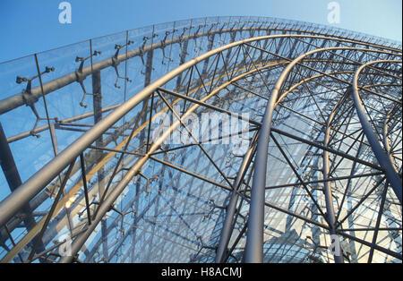 Structure en acier de la salle d'exposition, Neue Messe, architecture moderne, acier, verre, Leipzig, Saxe Banque D'Images