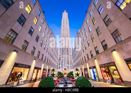 NEW YORK CITY - 2 NOVEMBRE 2016: Rockefeller Center de New York. Le site historique a été achevé en 1939. Banque D'Images