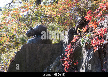 """Hunt"" Sculpture Cougar, East Drive, 'CAT', Central Park, NYC"
