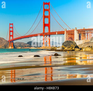 Golden Gate Bridge à San Francisco, Californie, USA. Banque D'Images