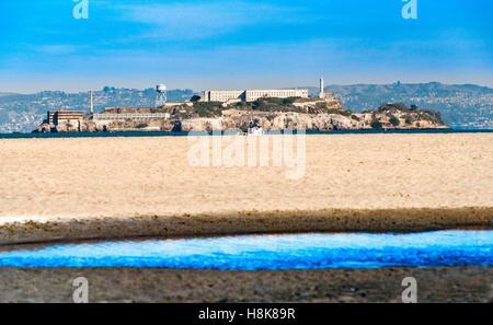 L'île d'Alcatraz à San Francisco, Californie, USA. Banque D'Images