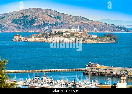 L'île d'Alcatraz à San Francisco, Californie, USA.