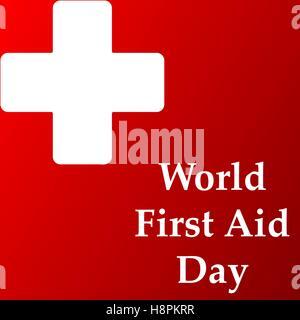 Vecteur de création résumé pour la Journée mondiale des premiers secours Avec nice et beau design illustration dans Banque D'Images