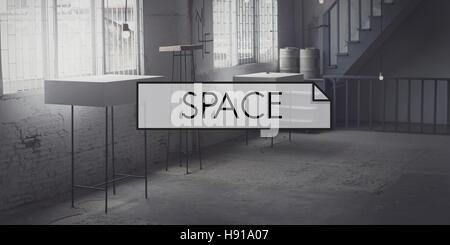 La conception de l'espace de bureau moderne Concept privé décorer Banque D'Images