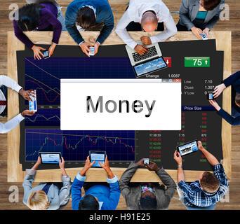 Les stocks d'investissement de l'économie de marché Business Concept Banque D'Images