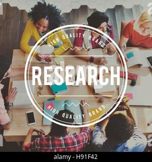 Connaissance de l'information Rapport de recherche Question Concept Banque D'Images