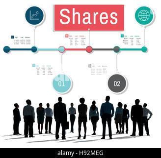 Partage de l'information Global Business Concept de données Banque D'Images