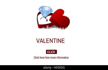 Bague de fiançailles Saint-valentin amour couple Concept Banque D'Images