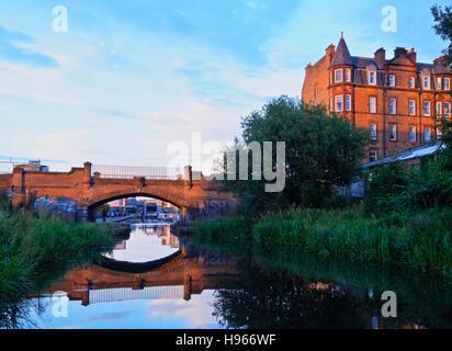 Royaume-uni, Ecosse, Lothian, Édimbourg, vue sur le Canal de l'Union. Banque D'Images