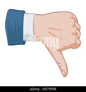 Signe de main n'aiment pas Banque D'Images