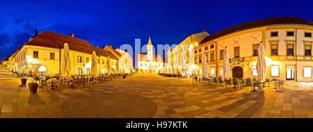 Ville de Varazdin place centrale panorama, ville baroque dans le nord de la Croatie Banque D'Images