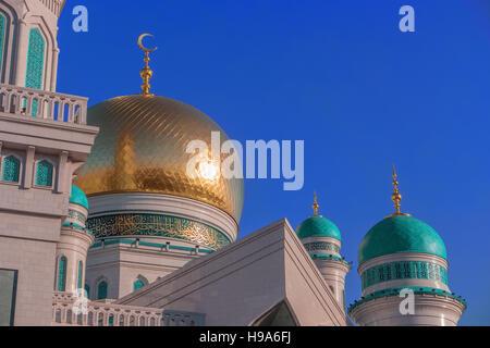 Mosquée Cathédrale de Moscou, Russie. Belle architecture religieuse. La mosquée principale de Moscou, l'une des plus grande mosquée en Russie