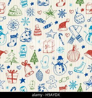 Sommaire Noël motif transparent Banque D'Images
