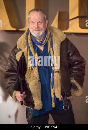Londres, Royaume-Uni. 21 Nov, 2016. Terry Gilliam assiste à la première UK de' à l'Odeon Leicester Square le 21 novembre 2016 à Londres, en Angleterre. Crédit: Gary Mitchell/Alamy Live News