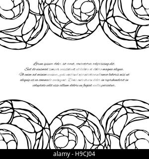 Abstract vector background avec une place pour votre texte. Page, carte de souhaits invitation ou un modèle de conception. Banque D'Images