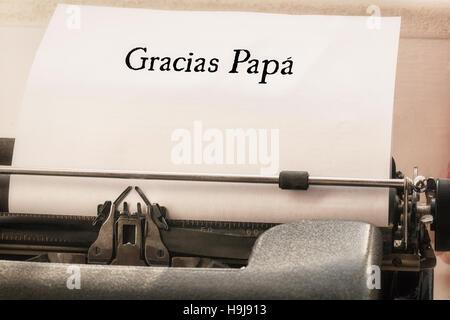 Image composite de mot gracias papa Banque D'Images