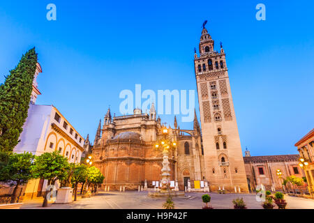 Séville, Espagne. Cathédrale de Saint Marie de la voir. Banque D'Images