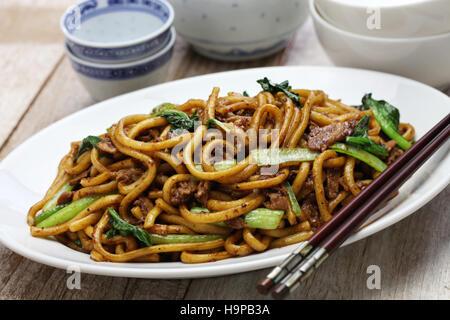 Nouilles frites de Shanghai, Shanghai, chow mein chinese food Banque D'Images