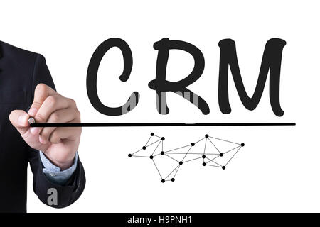 Analyse de la gestion d'affaires CRM Customer Service Concept