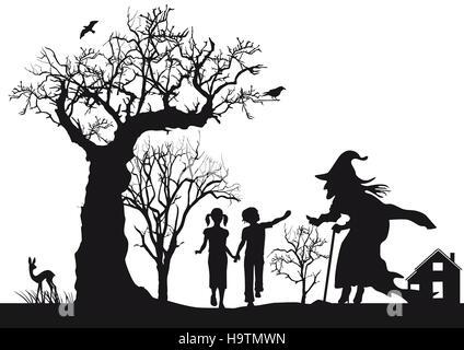 Hansel et Gretel, contes de fées, Banque D'Images