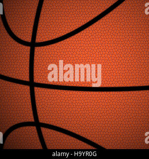 Basket-ball orange/brun close up illustration Banque D'Images
