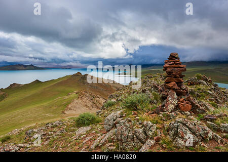 La Mongolie, province Zavkhan, Khar Nuur lake Banque D'Images