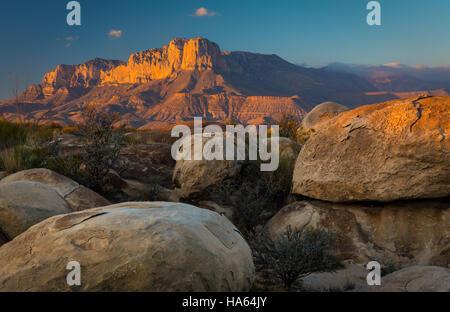 El Capitan est un pic dans Culberson County, Texas, United States, dans Guadalupe Mountains National Park Banque D'Images