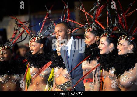 Usain Bolt participant à la 'JE SUIS' vis Première mondiale à Odeon Leicester Square, Londres. ASSOCIATION DE PRESSE Photo. Photo date: lundi 28 novembre, 2016. PA SPORT Voir histoire de la vis. Crédit photo doit se lire: Matt Crossick/PA Wire.