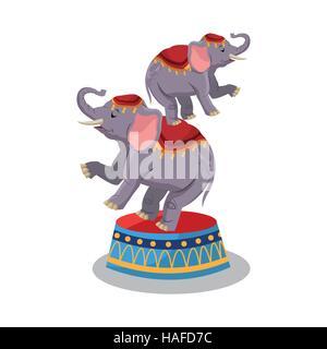 Éléphant de cirque et conception de carnaval