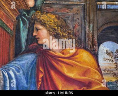 Frescoe et détails ornementaux de la villa Farnesina. Rome, Italie Banque D'Images