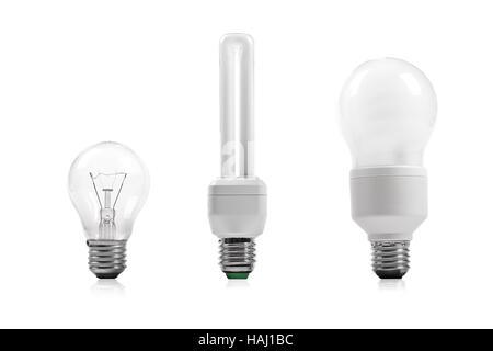 Les économies d'énergie et de l'ampoule à incandescence Banque D'Images