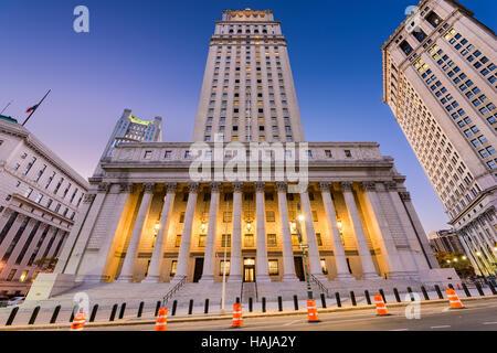 United States Court House dans le quartier de centre civique de la ville de New York.