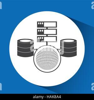 Système de données globe concept binaire illustration vecteur eps 10 Banque D'Images