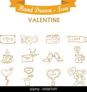 L'icône orange Collection Valentine days