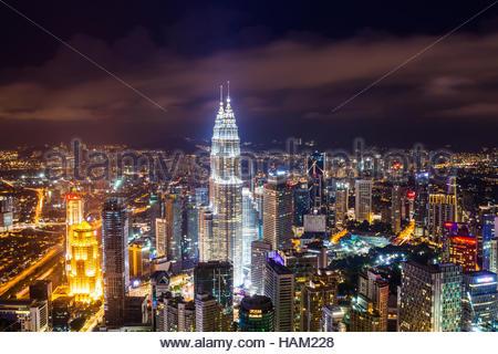 Les Tours Petronas à Kuala Lumpur, Malaisie Banque D'Images
