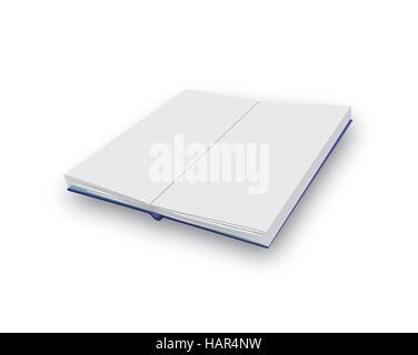 Un vecteur illustration d'un livre ouvert avec des pages blanches Banque D'Images