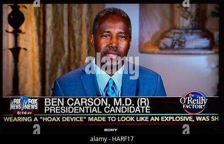 Bill O'Reilly Le Dr Ben Carson Fox News politique Politique Médias Télévision