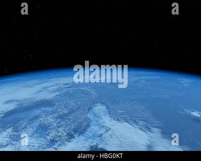 Vue de la Terre depuis l'espace Banque D'Images