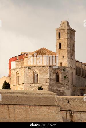 Cathédrale Santa Maria à Ibiza Banque D'Images