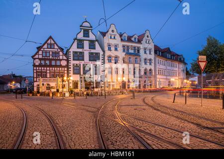 Fachwerk maisons dans Erfurt, Allemagne Banque D'Images