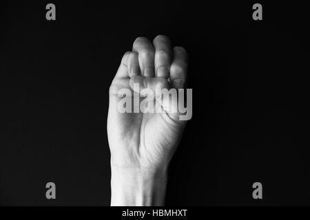 Alphabet Dactil E Banque D'Images