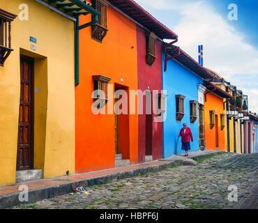 Les couleurs de la Colombie: La Candelaria, Bogotá Banque D'Images