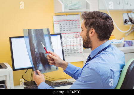 Doctor examining x-ray Banque D'Images