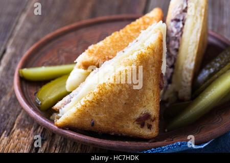 Thon sandwich fait maison faire fondre sur rural tableau