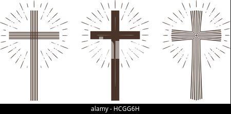 La religion croix ou symbole. Vector illustration