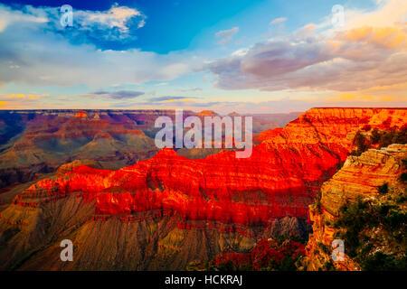 Le Parc National du Grand Canyon est les États-Unis 15e plus vieux parc national. Nommé Site du patrimoine mondial Banque D'Images