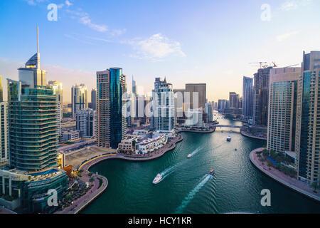 La Marina de Dubaï, Dubaï, Émirats arabes unis, Moyen Orient