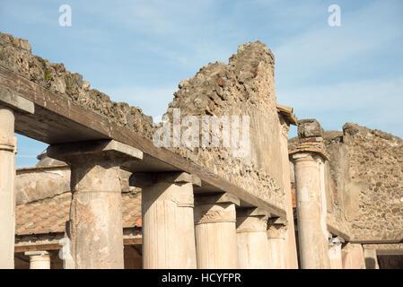 Pompéi, ITALIE- novembre 13, 2016: ruines de Pompéi a été déclaré en 1997 par l'UNESCO World Heritage Site. Banque D'Images