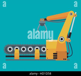 La fabrication de la ligne de production robotisée Banque D'Images